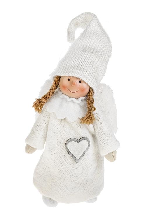 Кукла декоративная Снежный ангелИгрушки-куклы<br>Выс=22см, текстиль, полирезин, бело-крем.<br>