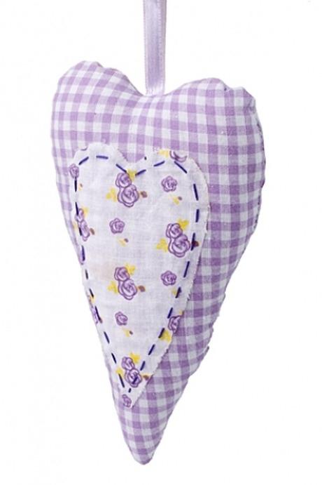 Сувенир Вытянутое сердцеИгрушки и куклы<br>9*17см, текстиль, подвесной (4 вида)<br>