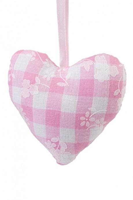 Сувенир Нежное сердцеИгрушки и куклы<br>10*10см, текстиль, подвесной (2 вида)<br>