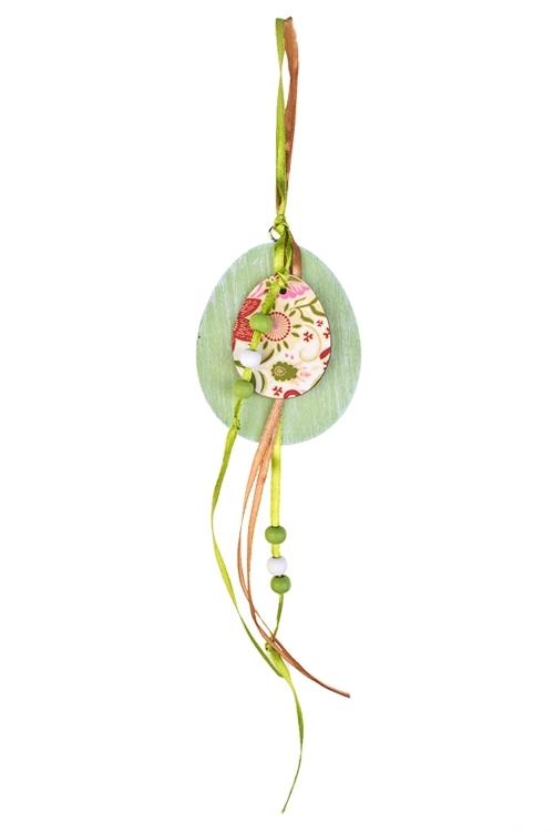 Украшение декоративное Яичко с декоромДекоративные гирлянды и подвески<br>Дл=30см, дерево, подвесное (2 вида)<br>