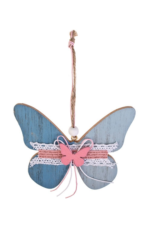 Украшение декоративное БабочкаСувениры и упаковка<br>12.5*10см, дерево, подвесное<br>