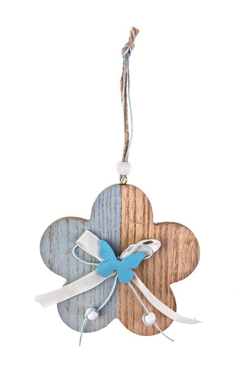 Украшение декоративное ЦветочекСувениры и упаковка<br>11*11см, дерево, подвесное<br>