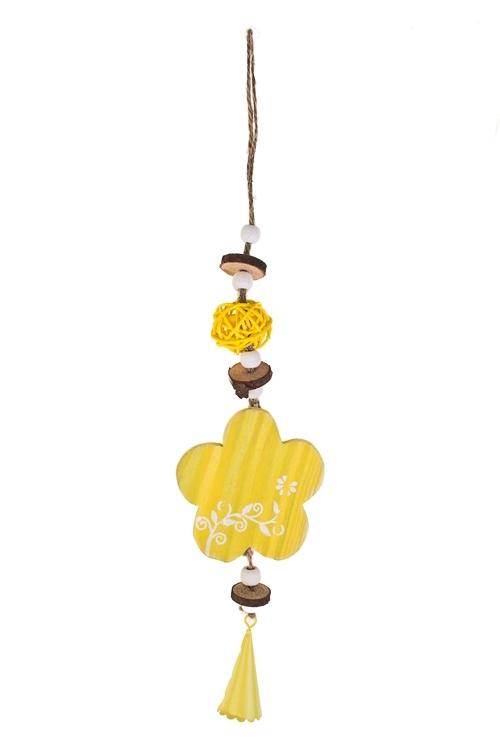 Украшение декоративное Весеннее настроениеПодарки на 8 марта<br>Дл=35см, дерево, подвесное (2 вида)<br>