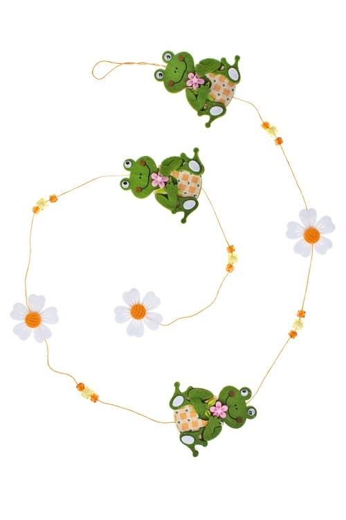 Украшение декоративное Гирлянда из лягушекДекоративные гирлянды и подвески<br>Дл=120см, фетр<br>