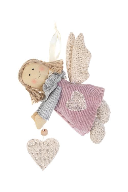Кукла мягконабивная Парящий ангелИгрушки и куклы<br>Выс=16см, текстиль, розово-золот., подвесная, ручн. раб.<br>