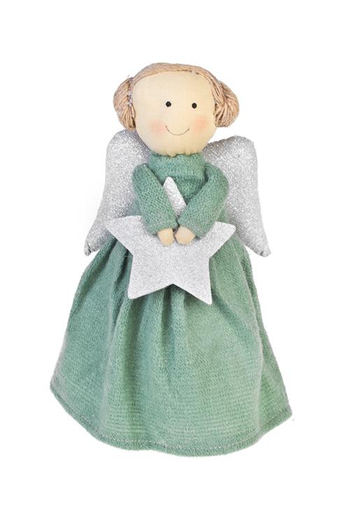 Кукла мягконабивная Прекрасный ангелИгрушки и куклы<br>Выс=26см, текстиль, изумрудн. (2 вида), ручн. раб.<br>