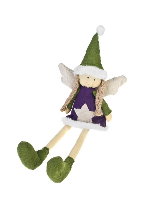 Кукла мягконабивная Звездный ангелокИгрушки и куклы<br>Выс=33см, текстиль, малин.-фиолет. (3 вида), ручн. раб.<br>