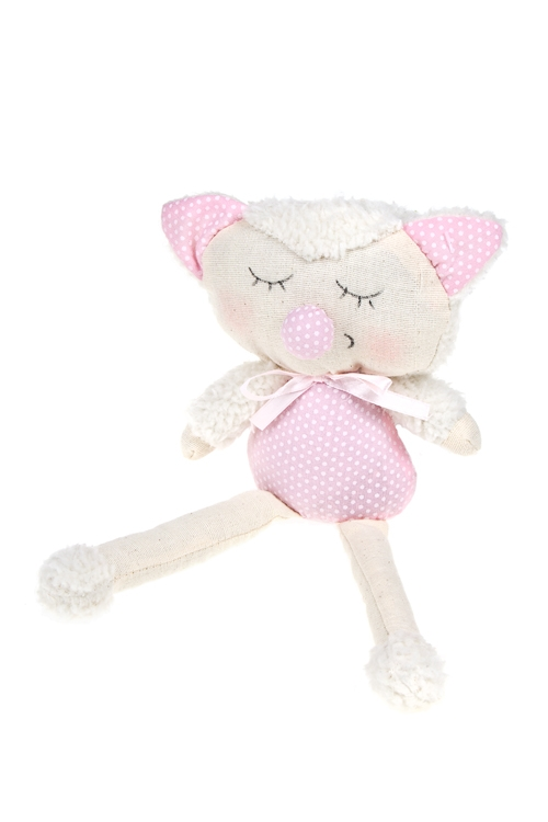 Игрушка мягкая Пушистый котикТекстильные игрушки<br>Выс=24см, текстиль, песок (3 цвета), ручная работа<br>