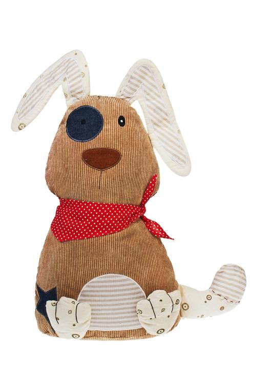Игрушка мягкая Смешная собакаТекстильные игрушки<br>Выс=45см, текстиль, коричн., ручная работа<br>