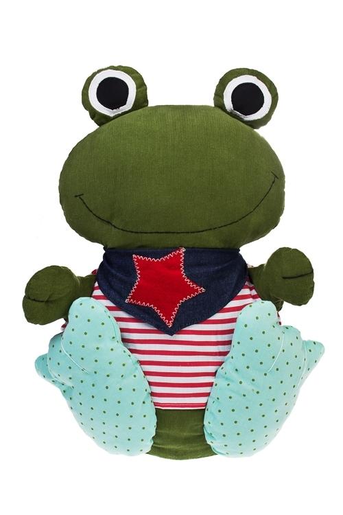 Игрушка мягкая Смешная лягушкаИгрушки и куклы<br>Выс=48см, текстиль, разноцв., ручная работа<br>