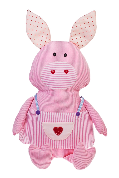 Игрушка мягкая Смешная хрюшаИгрушки и куклы<br>Выс=53см, текстиль, розовая, ручная работа<br>