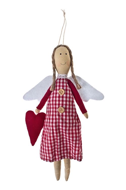 Кукла мягконабивная Порхающий ангелИгрушки-куклы<br>Дл=30см, текстиль, бежево-красная, подвесная<br>