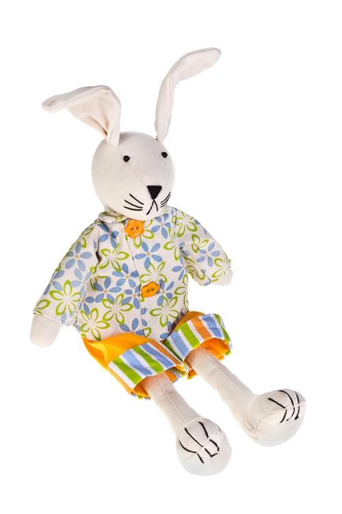Игрушка мягконабивная ЗайкиТекстильные игрушки<br>Выс=20см, текстиль, желто-зеленая (2 вида), ручная работа<br>
