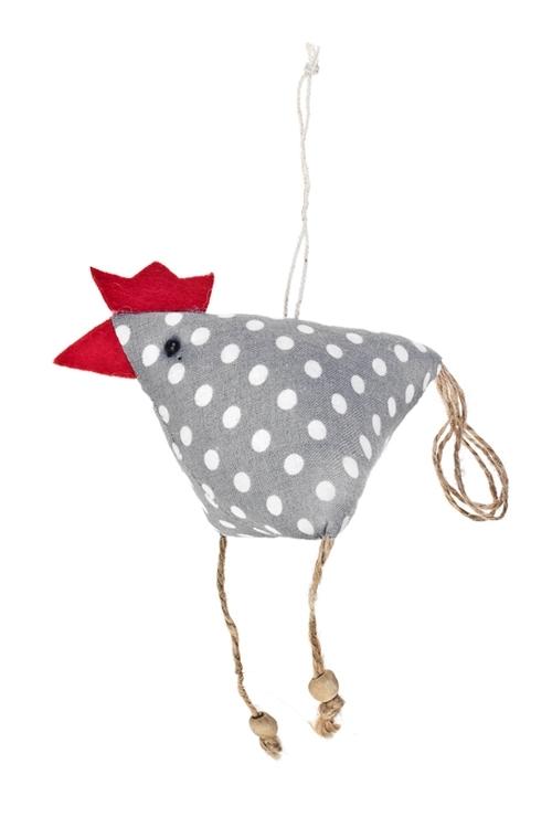Игрушка мягконабивная Веселый цыпаДекоративные гирлянды и подвески<br>Выс=11см, текстиль, подвесная (3 вида), ручная работа<br>