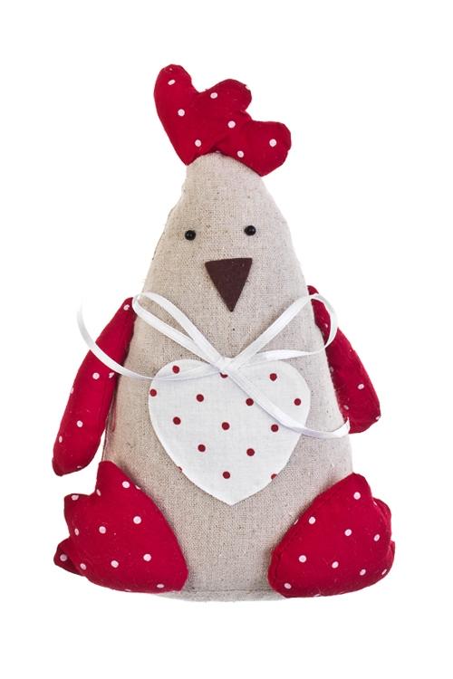 Игрушка мягконабивная Счастливый цыпаИгрушки и куклы<br>Выс=22см, текстиль, подвесная, ручн. раб.<br>