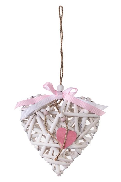 Украшение декоративное В сетях любвиДекоративные гирлянды и подвески<br>Выс=14см, дерево, подвесное<br>