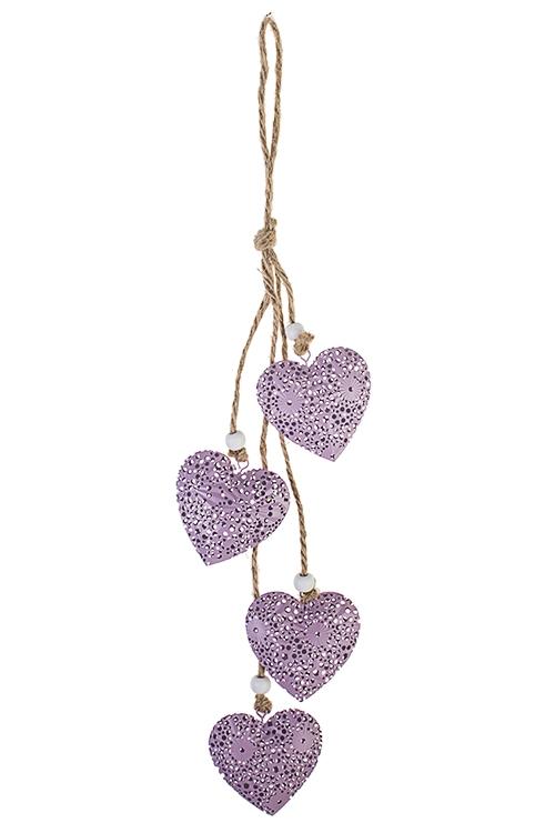 Украшение декоративное Подвеска из ажурных сердецСувениры и упаковка<br>Выс=41см, металл, подвесное<br>