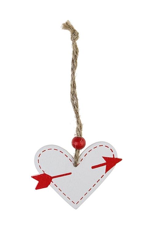 Украшение декоративное Любовное посланиеСувениры и упаковка<br>Выс=4см, дерево, подвесное (3 вида)<br>