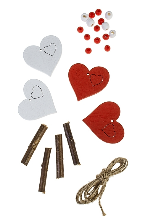 Набор для создания украшения декоративного СердцеДекоративные гирлянды и подвески<br>24-предм., дерево<br>