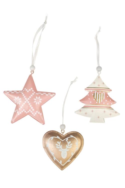 Набор украшений декоративных Прекрасная подвескаПодарки<br>Выс=7см, металл, крем-розово-золот., подвес<br>