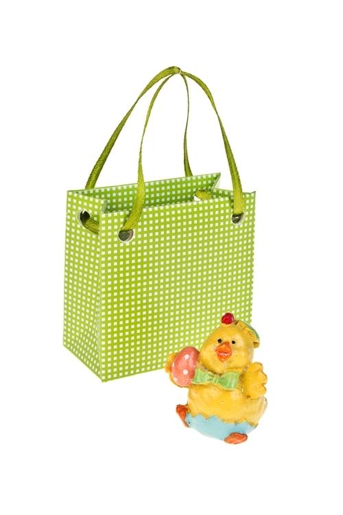 Фигурка Цыпленок с яйцомСувениры и упаковка<br>Выс=4.5см, полирезин (2 вида)<br>