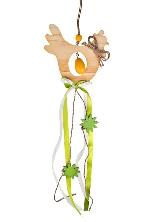 Украшение декоративное КурочкаДекоративные гирлянды и подвески<br>Дл=50см, дерево, подвесное (2 цвета)<br>