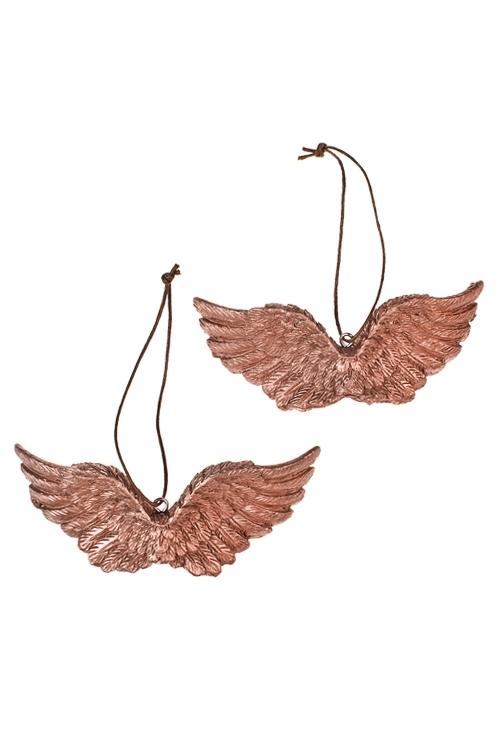 Набор украшений декоративных Ангельские крыльяСувениры и упаковка<br>4*10см, полирезин, золот., подвесной<br>