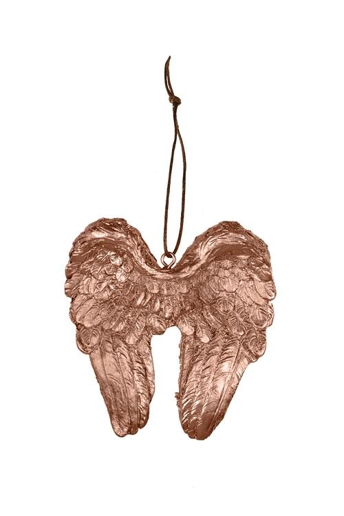 Украшение декоративное Крылья ангелаСувениры и упаковка<br>Выс=8см, полирезин, золот., подвесное<br>
