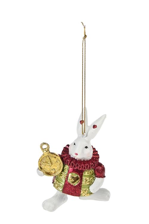 Украшение декоративное Белый кролик