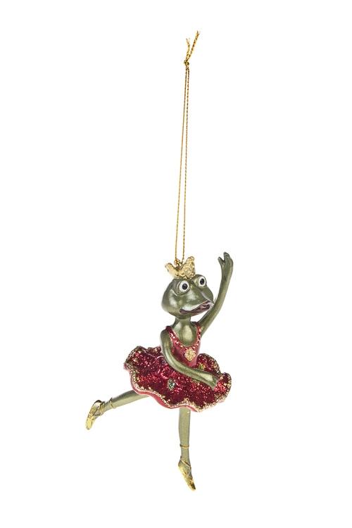Украшение декоративное Царевна-лягушкаПодарки<br>13*5.5см, полирезин, зелено-красное<br>