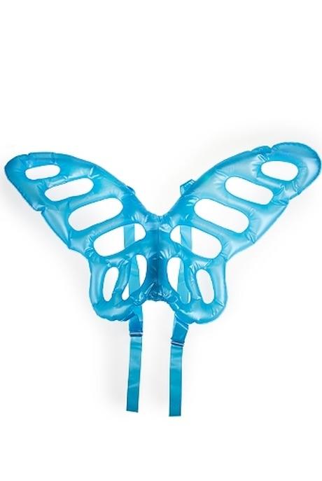 Аксессуар маскарадный КрыльяМаскарадные костюмы<br>46*66см надувной голубой с подсветкой<br>