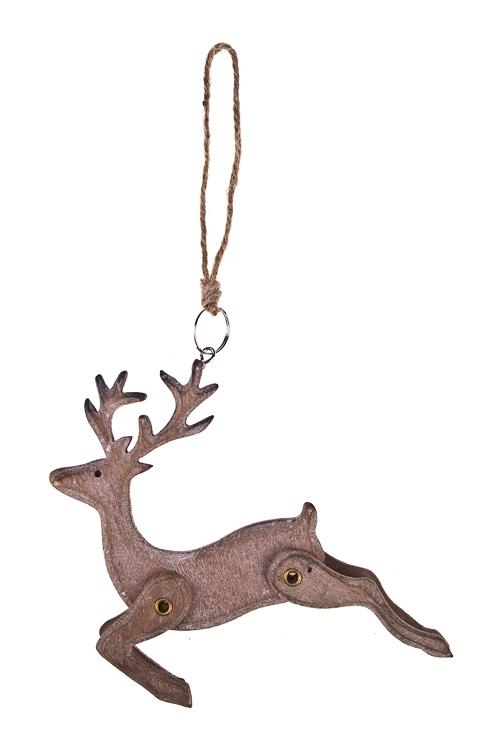 Украшение декоративное Парящий оленьПодарки<br>13*13см, дерево, подвесное<br>