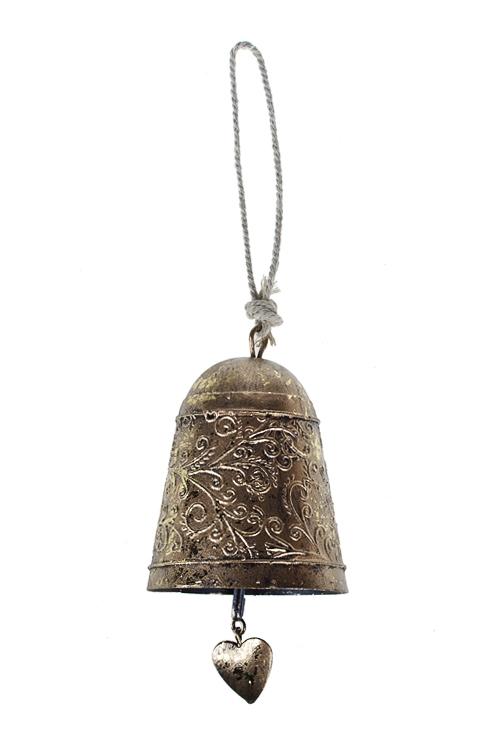 Колокольчик декор. Прекрасный узорПодарки<br>Выс=14см, металл, золот., подвесной<br>