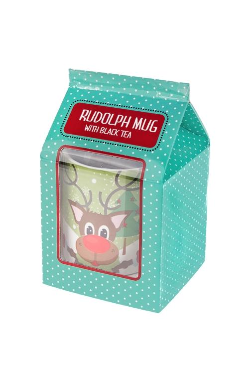 Набор подарочный Олень РудольфПосуда<br>(кружка 180мл, чай черный), в коробке<br>