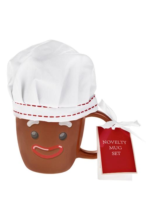 Набор подарочный Мистер печенька в колпакеПосуда<br>(кружка 350мл, чай черный)<br>