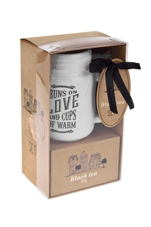 Набор подарочный Мэйсон джарКружки и бокалы<br>(кружка 400мл, чай черный), в коробке<br>