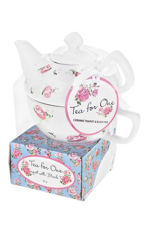 Набор подарочный Прованское чаепитиеПосуда<br>(чайник, чашка, чай черный)<br>