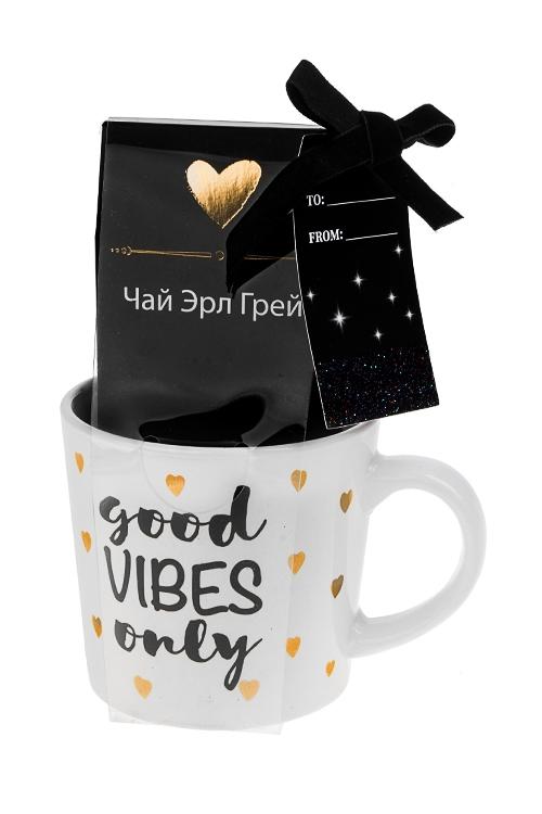 Набор подарочный Позитивные вибрацииНаборы кружек<br>Кружка керам. 300мл, чай Эрл Грей<br>