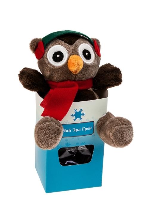 Набор подарочный СовенокНаборы кружек<br>Игрушка мягкая полиэстер, чай Эрл Грей<br>