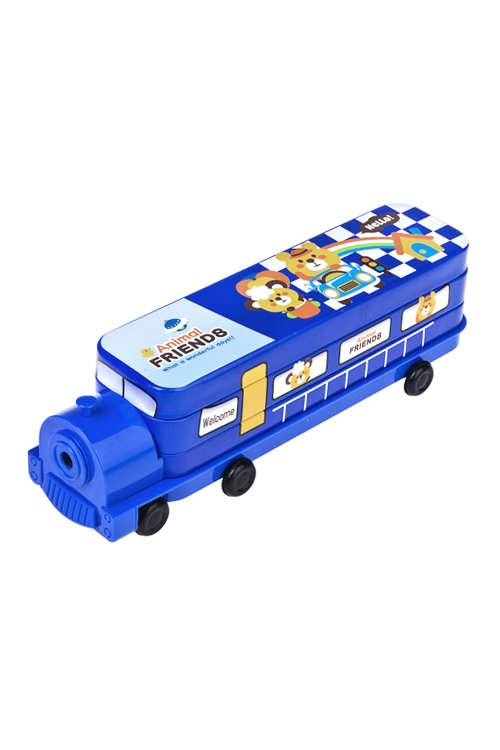 Пенал АвтобусПеналы<br>23.6*6*6см, металл, с точилкой (4 вида)<br>