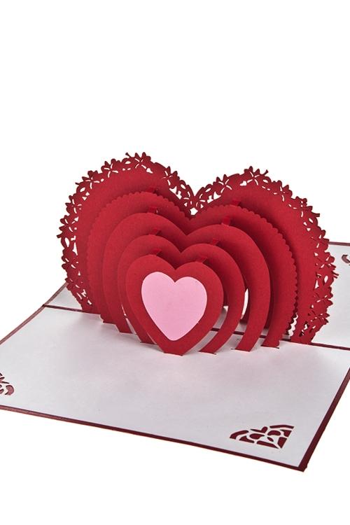 """Открытка подарочная с объемными картинками """"Сердце"""" - 2"""