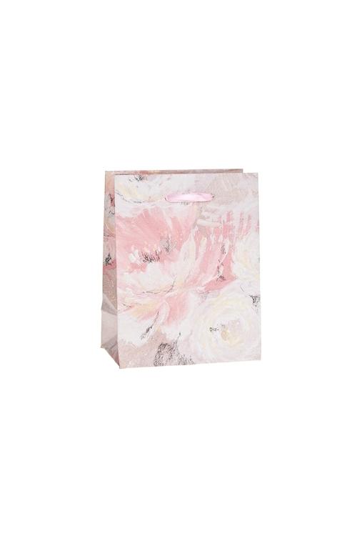 Пакет подарочный Бархатные розыСувениры и упаковка<br>11*6.5*14см, бум., матовый, с декором<br>