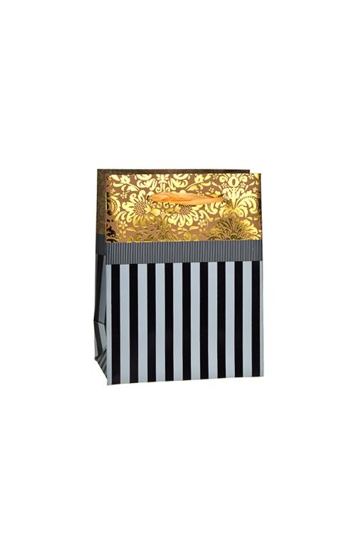 Пакет подарочный ГлянецСувениры и упаковка<br>11*6.5*14см, бум., матовый, с декором<br>