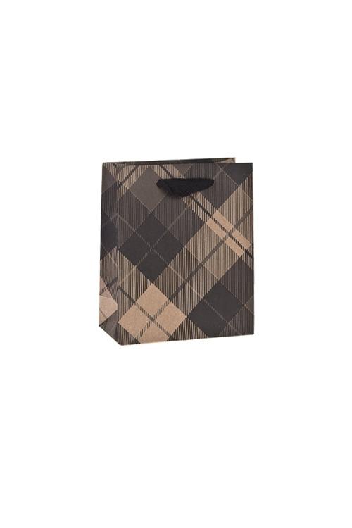 Пакет подарочный КлеткаСувениры и упаковка<br>11*6.5*14.5см, крафтовая бумага<br>
