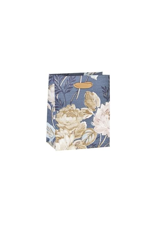 Пакет подарочный Бархатные розыСувениры и упаковка<br>11*6.5*14.5см, бум., матовый, с декором<br>