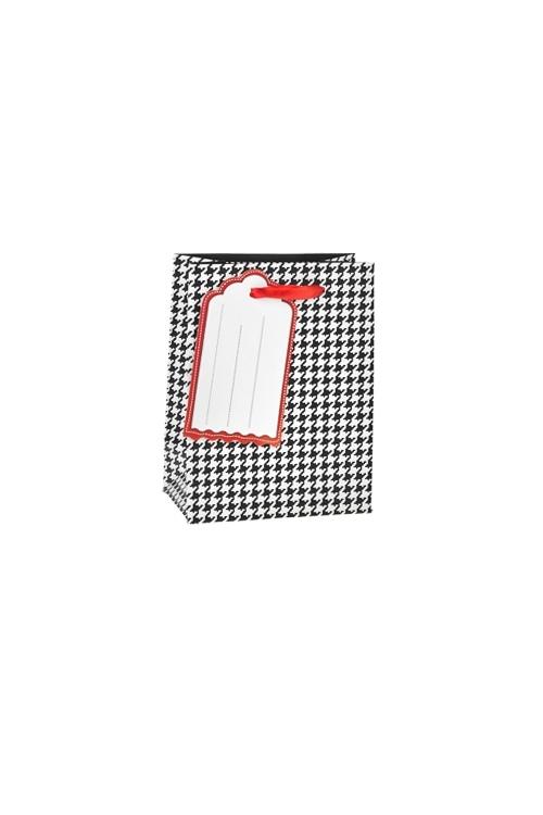 Пакет подарочный Гусиная лапкаСувениры и упаковка<br>11*6.5*14см, бум., матовый<br>