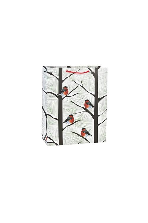 Пакет подарочный новогодний СнегириСувениры и упаковка<br>11*6.5*14см, бум., матовый<br>
