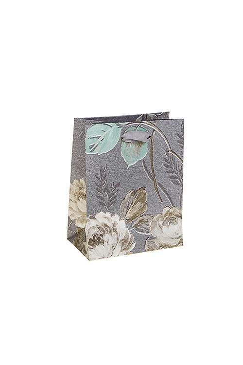 Пакет подарочный Нежные цветыКлассические пакеты<br>11*6.5*14см, бум., матовый<br>