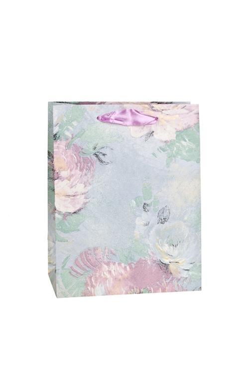 Пакет подарочный Бархатные розыПакеты на любой повод<br>18*10*23см, бум., матовый, с декором<br>