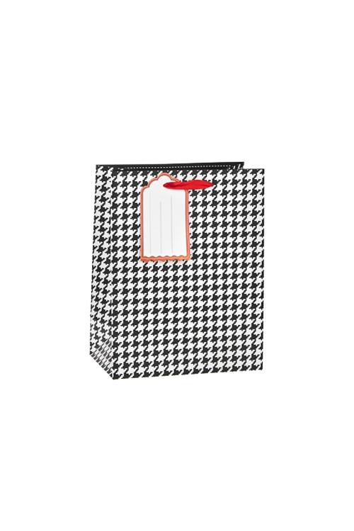 Пакет подарочный Гусиная лапкаКлассические пакеты<br>18*10*23см, бум., матовый<br>